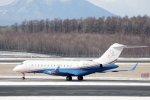 kitayocchiさんが、新千歳空港で撮影したプライベートエア BD-700-1A10 Global Expressの航空フォト(飛行機 写真・画像)