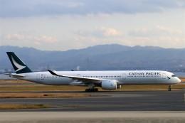 にしやんさんが、関西国際空港で撮影したキャセイパシフィック航空 A350-1041の航空フォト(飛行機 写真・画像)