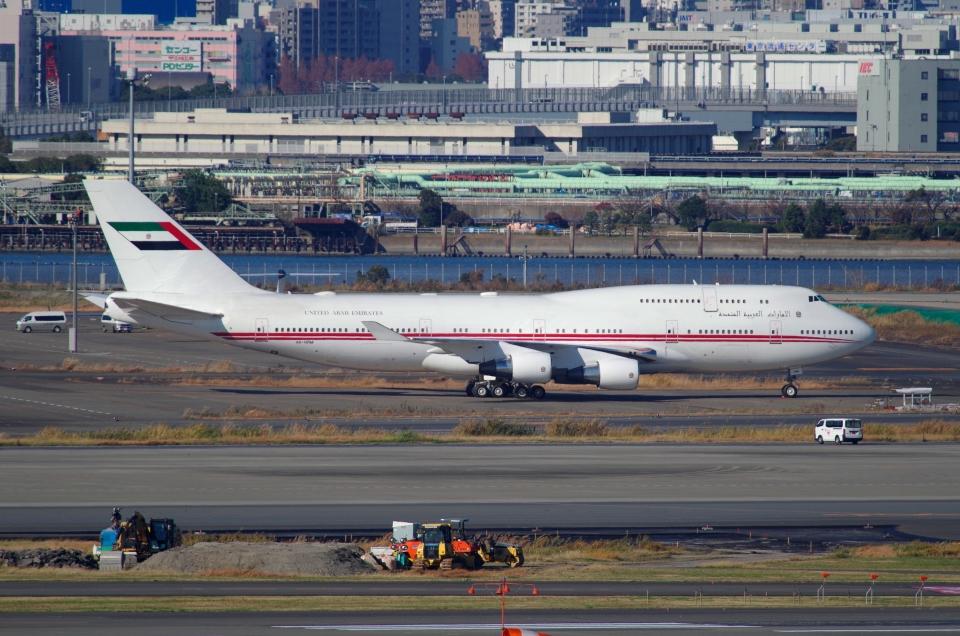 tasho0525さんのドバイ・ロイヤル・エア・ウィング Boeing 747-400 (A6-HRM) 航空フォト