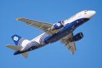 ちゃぽんさんが、成田国際空港で撮影したオーロラ A319-111の航空フォト(飛行機 写真・画像)