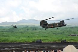 timeさんが、東富士演習場で撮影した陸上自衛隊 CH-47Jの航空フォト(飛行機 写真・画像)