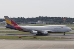 Shibataさんが、成田国際空港で撮影したアシアナ航空 747-48EM(BDSF)の航空フォト(飛行機 写真・画像)