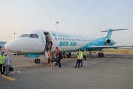 matobisarさんが、アルマトイ国際空港で撮影したベック・エア 70/100の航空フォト(飛行機 写真・画像)