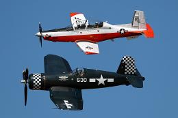 AkiChup0nさんが、ペンサコーラ海軍航空ステーションで撮影したGoodyear F4U-4 Corsairの航空フォト(飛行機 写真・画像)