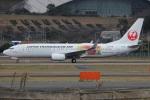 MOR1(新アカウント)さんが、福岡空港で撮影した日本トランスオーシャン航空 737-8Q3の航空フォト(飛行機 写真・画像)