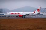 サボリーマンさんが、松山空港で撮影したマリンド・エア 737-8GPの航空フォト(飛行機 写真・画像)