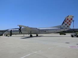 ヒロリンさんが、スプリト空港で撮影したクロアチア航空 DHC-8-402Q Dash 8の航空フォト(飛行機 写真・画像)