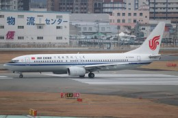 Yuseiさんが、福岡空港で撮影した中国国際航空 737-86Nの航空フォト(飛行機 写真・画像)