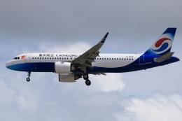 ★azusa★さんが、シンガポール・チャンギ国際空港で撮影した重慶航空 A320-251Nの航空フォト(飛行機 写真・画像)