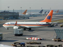 もんがーさんが、フランクフルト国際空港で撮影したハパック ロイド フルーク 737-8K5の航空フォト(飛行機 写真・画像)