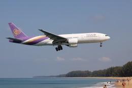 U.Tamadaさんが、プーケット国際空港で撮影したタイ国際航空 777-2D7の航空フォト(飛行機 写真・画像)