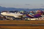 あしゅーさんが、福岡空港で撮影したタイ国際航空 A330-343Xの航空フォト(飛行機 写真・画像)
