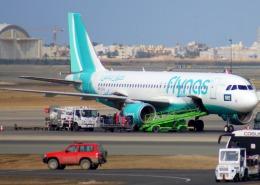 KAZKAZさんが、キング・アブドゥルアジズ国際空港で撮影したフライナス A320-214の航空フォト(飛行機 写真・画像)