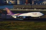 Hide.Oさんが、羽田空港で撮影したタイ国際航空 747-4D7の航空フォト(飛行機 写真・画像)