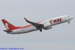 Chofu Spotter Ariaさんが、成田国際空港で撮影したティーウェイ航空 737-8ASの航空フォト(飛行機 写真・画像)