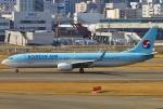 あしゅーさんが、福岡空港で撮影した大韓航空 737-9B5/ER の航空フォト(飛行機 写真・画像)
