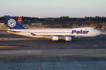 TIA spotterさんが、成田国際空港で撮影したポーラーエアカーゴ 747-46NF/SCDの航空フォト(飛行機 写真・画像)