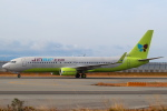セブンさんが、関西国際空港で撮影したジンエアー 737-8SHの航空フォト(飛行機 写真・画像)