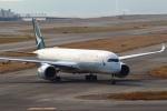 セブンさんが、関西国際空港で撮影したキャセイパシフィック航空 A350-941XWBの航空フォト(飛行機 写真・画像)