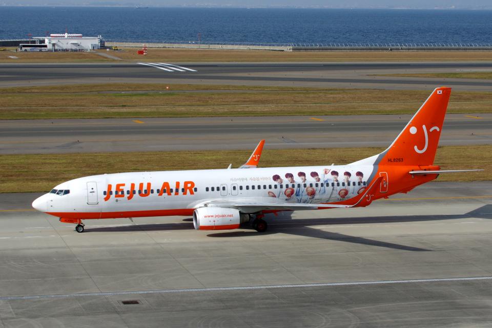 yabyanさんのチェジュ航空 Boeing 737-800 (HL8263) 航空フォト