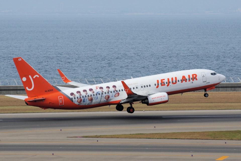 blowgunさんのチェジュ航空 Boeing 737-800 (HL8263) 航空フォト
