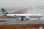 セブンさんが、関西国際空港で撮影したキャセイパシフィック航空 A330-343Xの航空フォト(飛行機 写真・画像)