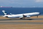 yabyanさんが、中部国際空港で撮影したキャセイパシフィック航空 A340-313Xの航空フォト(飛行機 写真・画像)