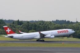 Hiro-hiroさんが、成田国際空港で撮影したスイスインターナショナルエアラインズ A340-313Xの航空フォト(飛行機 写真・画像)