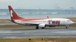 coolinsjpさんが、関西国際空港で撮影したティーウェイ航空 737-8Q8の航空フォト(飛行機 写真・画像)