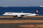 やつはしさんが、羽田空港で撮影したルフトハンザドイツ航空 A350-941XWBの航空フォト(飛行機 写真・画像)