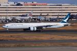 やつはしさんが、羽田空港で撮影したキャセイパシフィック航空 777-367/ERの航空フォト(飛行機 写真・画像)