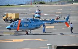 ブルーさんさんが、横浜ヘリポートで撮影した神奈川県警察 206L-4 LongRanger IVの航空フォト(飛行機 写真・画像)