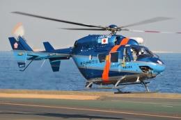 ブルーさんさんが、横浜ヘリポートで撮影した神奈川県警察 BK117B-2の航空フォト(飛行機 写真・画像)