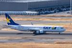 Y-Kenzoさんが、羽田空港で撮影したスカイマーク 737-8ALの航空フォト(飛行機 写真・画像)