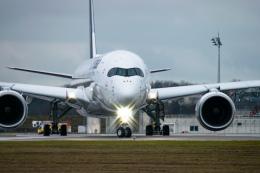 gomaさんが、ミュンヘン・フランツヨーゼフシュトラウス空港で撮影したルフトハンザドイツ航空 A350-941の航空フォト(飛行機 写真・画像)