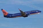 キャスバルさんが、フェニックス・スカイハーバー国際空港で撮影したサンカントリー・エアラインズ 737-8Q8の航空フォト(飛行機 写真・画像)