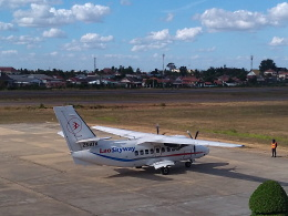 atiiさんが、サワンナケート空港で撮影したラオ・スカイウェイ L-410UVP-E20 Turboletの航空フォト(飛行機 写真・画像)