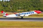 sky-spotterさんが、プーケット国際空港で撮影したエーデルワイス航空 A340-313Xの航空フォト(飛行機 写真・画像)