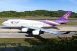 sky-spotterさんが、プーケット国際空港で撮影したタイ国際航空 747-4D7の航空フォト(飛行機 写真・画像)