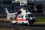 Mizuki24さんが、東京ヘリポートで撮影した朝日航洋 AS332L1 Super Pumaの航空フォト(飛行機 写真・画像)