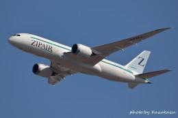 かずかずさんが、成田国際空港で撮影したZIPAIR 787-8 Dreamlinerの航空フォト(飛行機 写真・画像)