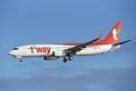 kumagorouさんが、那覇空港で撮影したティーウェイ航空 737-8KNの航空フォト(飛行機 写真・画像)