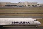 パピヨンさんが、ダニエル・K・イノウエ国際空港で撮影したハワイアン航空 717-2BLの航空フォト(飛行機 写真・画像)