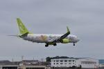 ワイエスさんが、鹿児島空港で撮影したソラシド エア 737-81Dの航空フォト(飛行機 写真・画像)