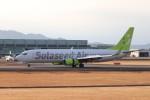 ゆう改めてさんが、熊本空港で撮影したソラシド エア 737-86Nの航空フォト(飛行機 写真・画像)