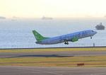 ふじいあきらさんが、羽田空港で撮影したソラシド エア 737-4M0の航空フォト(写真)