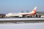 北の熊さんが、新千歳空港で撮影した奥凱航空 737-8Q8の航空フォト(飛行機 写真・画像)