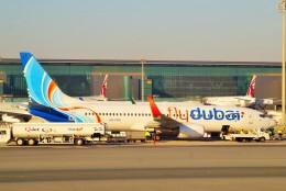 ちっとろむさんが、ドーハ・ハマド国際空港で撮影したフライドバイ 737-8KNの航空フォト(飛行機 写真・画像)