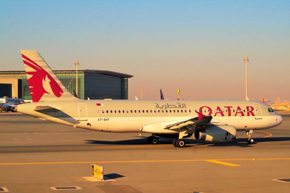 ちっとろむさんのカタール航空 Airbus A320 (A7-AHT) 航空フォト