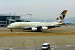 まいけるさんが、仁川国際空港で撮影したエティハド航空 A380-861の航空フォト(飛行機 写真・画像)